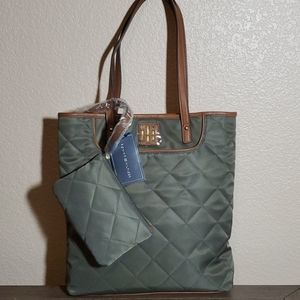 Tommy Hilfiger Quilted Tote bag & Matching Pouch